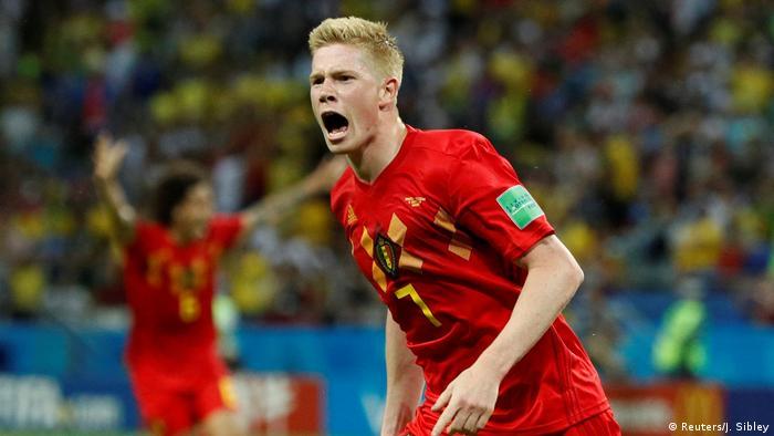 کوین د بروینه، یکی از ستارگان بزرگ تیم ملی بلژیک در این دوره از مسابقات است
