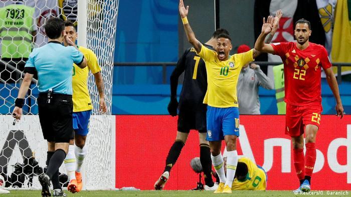 Fußball WM 2018 Brasilien - Belgien