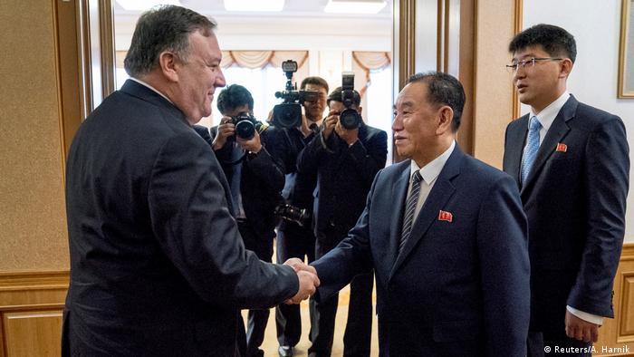 Майк Помпео та Кім Йон Чхол під час зустрічі у Пхеньяні у липні 2018 року