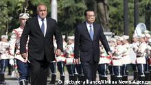 Li Keqiang und Bojko Borissov in Sofia Bulgarien