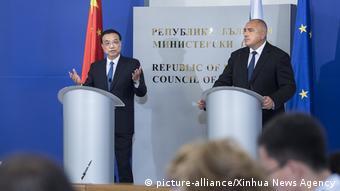 Li Keqiang und Bojko Borissov in Sofia Bulgarien (picture-alliance/Xinhua News Agency)
