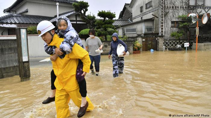 Unwetter in Japan (picture alliance/AP Photo)