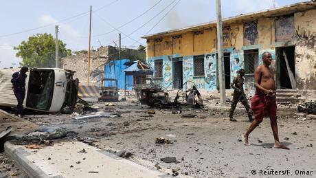 Un attentat à la voiture piégée, Mogadiscio le 7 juillet 2018