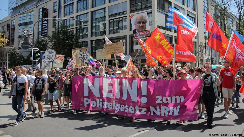 Dusseldorf demonstration against new police surveillance laws
