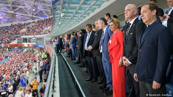 Preşedinta Kolinda Grabar-Kitarovic, a asistat la meciul naţionalei croate cu Rusia