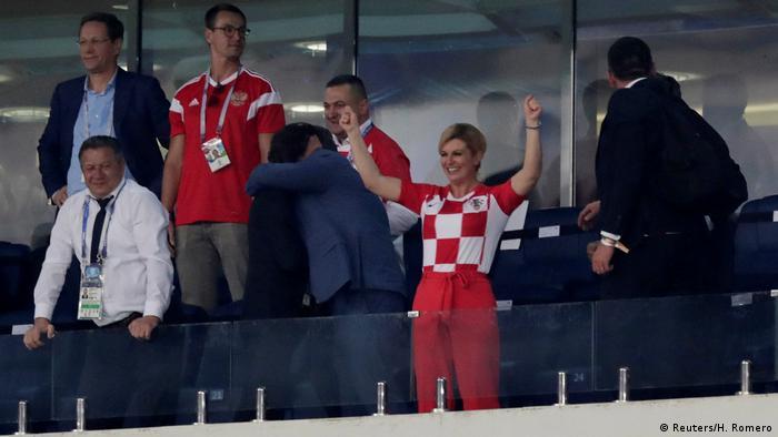 Grabar-Kitarović na utakmici