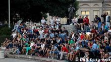 Public Viewing WM Spiel Russland - Kroatien