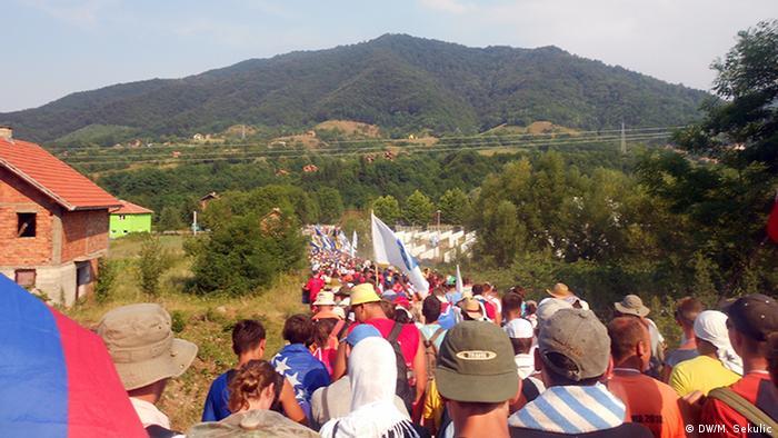 Friedensmarsch für Srebrenica in Bosnien-Herzegowina