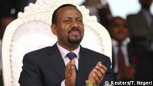 FILE PHOTO: Ethiopia's Prime Minister Abiy Ahmed attends a rally during his visit to Ambo in the Oromiya region, Ethiopia April 11, 2018. REUTERS/Tiksa Negeri/File Photo