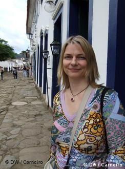 A agente literária Nicole Witt, em Paraty