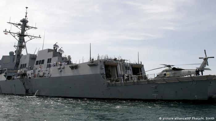 US-Kriegsschiff USS Mustin (picture alliance/AP Photo/H. Sinith)