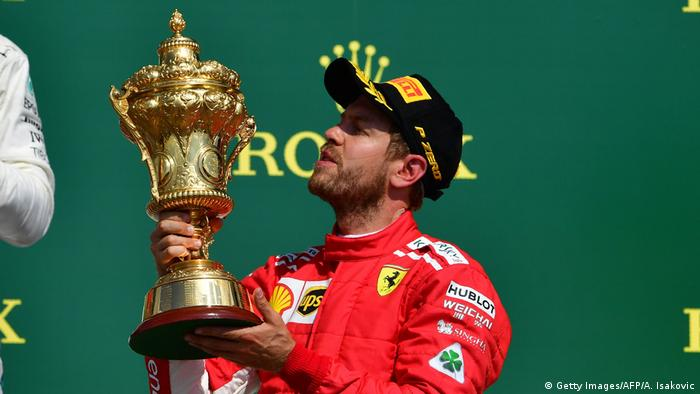 Formel 1 Grand Prix in Silverstone Vettel (Getty Images/AFP/A. Isakovic)