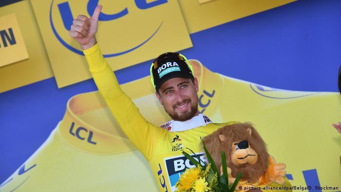 Tour de France 2018 | 2. Etappe | Etappensieger Peter Sagan, Gelbes Trikot (picture-alliance/dpa/Belga/D. Stockman)