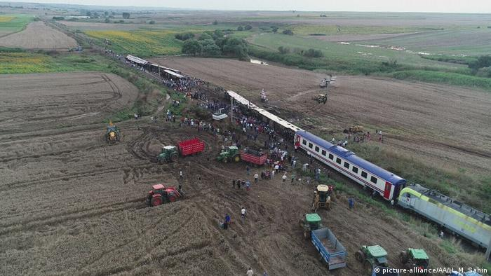 Railway accident near Tekirdag, Turkey.  (8.07.2018).
