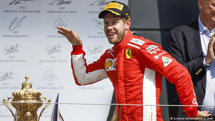 Formel 1 Grand Prix in Silverstone Vettel (picture-alliance/Hoch Zwei)