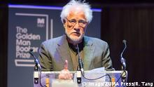 08.07.2018 London, London, UK - London, UK. Author Michael Ondaatje wins The Golden Man Booker celebrating the 50th anniversary of the Man Booker prize. The author won with their book The English Patient. London UK PUBLICATIONxINxGERxSUIxAUTxONLY - ZUMAl94_ 20180708_zaf_l94_045 Copyright: xRayxTangx