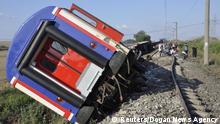Türkei Zugunglück bei Tekirdag' Äos Corlu