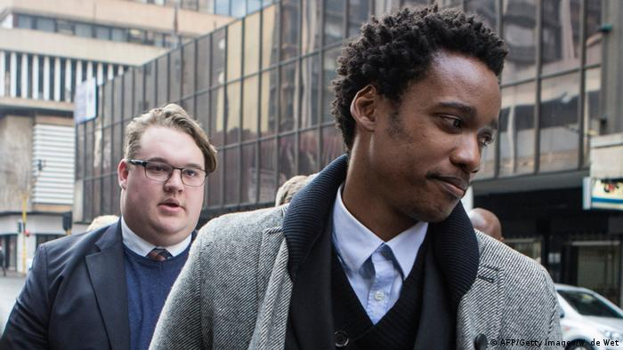 Duduzane Zuma on his way to court in July 2018 (AFP/Getty Images/W. de Wet)