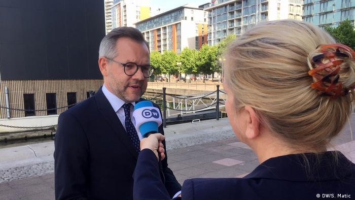 Michael Roth, Staatsminister im Auswärtigen Amt für Europa-Fragen (DW/S. Matic )