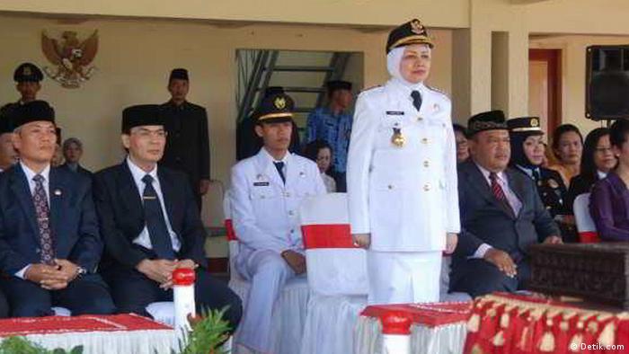 Haryanti, Regentin von Kediri, Ost Java (Detik.com)