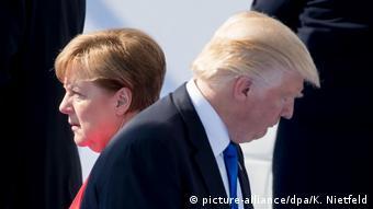 Ангела Меркель и Дональд Трамп идут в разные стороны