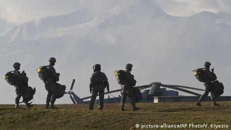 US Army soldiers in NATO-led peacekeeping mission in Kosovo