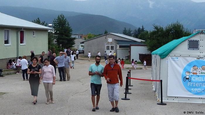 Migranten in Mostar, Bosnien-Herzegowina
