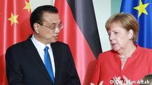 Merkel und Ministerpräsident der Volksrepublik China Li Keqiang im Bundeskanzleramt Berlin