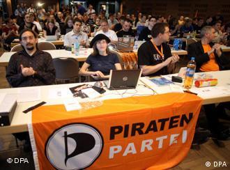 Bundesparteitag der Piraten 2009 in Hamburg (Foto: DPA)