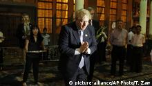 Boris Johnson in Myanmar