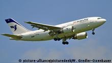 Flugzeug der Iran Air im Landeanflug