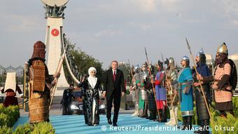 Στιγμιότυπο από την ορκομωσία του προέδρου Ερντογάν το 2018