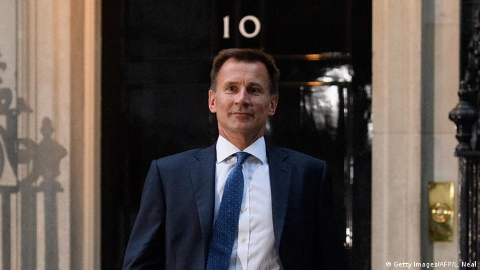 London Downing Street Jeremy Hunt Ernennung Außenminister