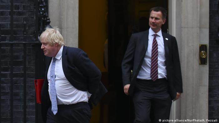 Boris Johnson e Jeremy Hunt