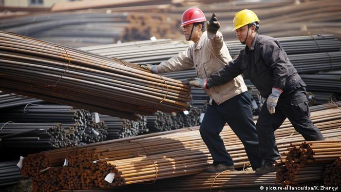 Китайский завод по производству изделий из стали