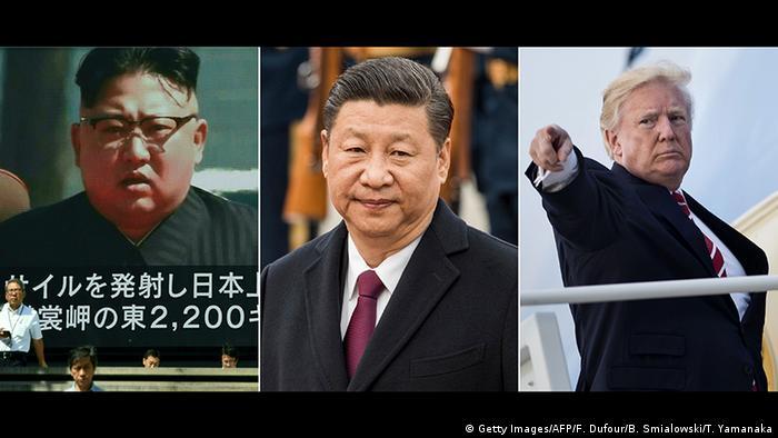 Bildkombo Kim Jong-un Xi Jinping Donald Trump