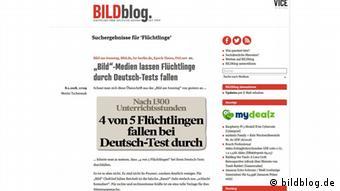 Screenshot Website BildBlog (bildblog.de)
