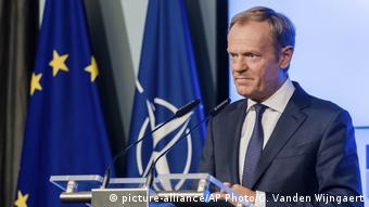 Belgien EU NATO Donald Tusk (picture-alliance/AP Photo/G. Vanden Wijngaert)