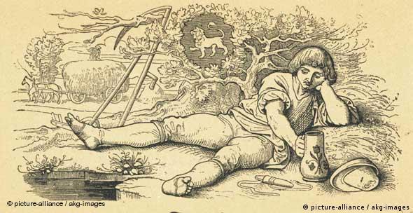 Monatsbild Juli (Heuernte) - Holzstich nach Zeichnung von Moritz von Schwind (Foto: picture-alliance / akg-images)