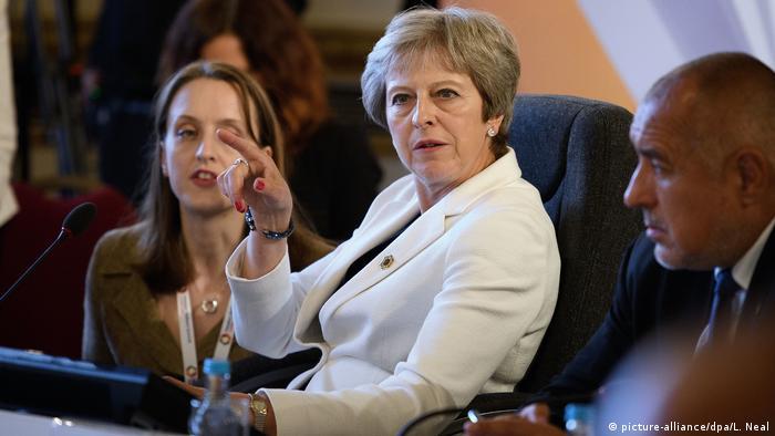 Großbritannien EU-Westbalkangipfel in London | Theresa May, Premierministerin von Großbritannien (picture-alliance/dpa/L. Neal)