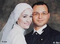 Марва ел-Шербини и съпругът й в деня на сватбата им