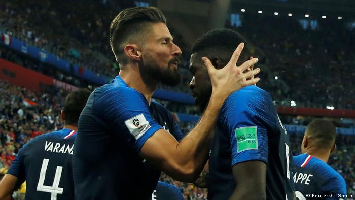 FIFA Fußball-WM 2018 in Russland | Halbfinale -Frankreich vs Belgien | Jubel (1:0) (Reuters/L. Smith)