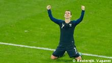 Soccer Football - World Cup - Semi Final - France v Belgium - Saint Petersburg Stadium, Saint Petersburg, Russia - July 10, 2018 France's Antoine Griezmann celebrates after the match REUTERS/Anton Vaganov