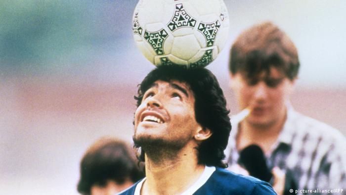 Diego Maradona beim Training