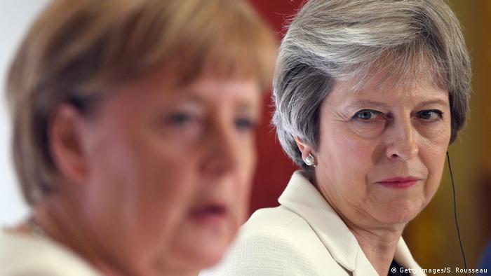 Grobritannien London Pressekonferenz von Theresa May und Angela Merkel