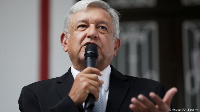 Mexiko Der gewählte Präsident Andres Manuel Lopez Obrador gibt Pressekonferenz in Mexiko-City (Reuters/D. Becerril)
