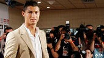 Pressekonferenz Cristiano Ronaldo Ankunft bei Real Madrid