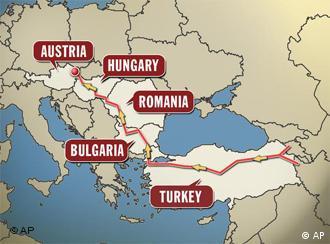 Kart von Süd-Ost-Europa (Quelle: ap)
