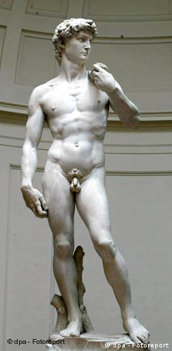 Skulptur David von Michelangelo in Florenz