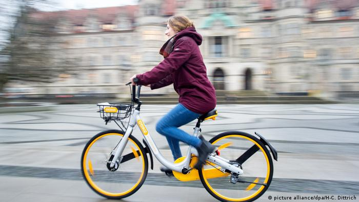 Obike - dockless Bike Sharing (picture alliance/dpa/H-C. Dittrich)